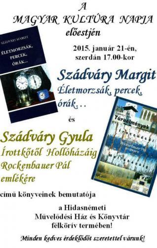 Szádváry Margit és Szádváry Gyula könyvbemutató estje 2015. 01. 21.